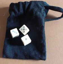 Medieval Dice Games of Alfonso the Wise; 3 dice in pouch with historic rules