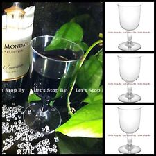 WEDDING Party - 60 120 240 480 PLASTIC WINE CHAMPAGNE FLUTES DISPOSABLE GLASSES
