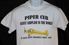 Piper Cub Tee Safest Airplane in The World   FREE SHIPPING