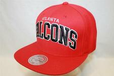 """Atlanta Falcons Snapback Hat Cap """"Solid Wool"""" by Mitchell & Ness NFL Hats"""