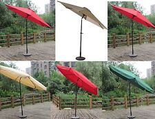 NEW 8ft 9ft 10ft Aluminum Outdoor Patio Umbrella Market Yard Beach w/ Crank Tilt