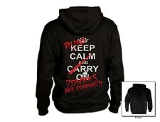 Keep Calm And Run Zombies Are Coming!! Hoodie apocalypse walking Carry On Dead