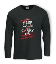 Keep Calm And Run Zombies Are Coming!! Long Sleeve T-Shirt apocalypse walking
