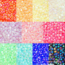 200pcs Jelly AB Colors 2-12mm Acrylic Flatback Rhinestone Scrapbook Nail Craft