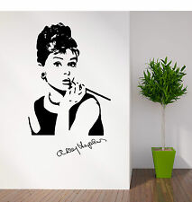 AUDREY HEPBURN PORTRAIT VINYL WALL ART ROOM STICKER DECAL