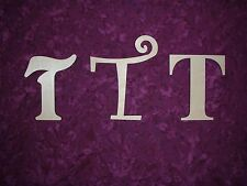 Wood Letter T Wooden Letter Unfinished Cut Out 6 inch Paintable,Stainable