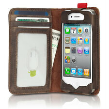 Hot Sale Antique Book Style Case Cover Card Wallet Brown for iPhone 4 4G 4S 5 5G