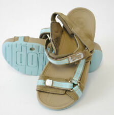 GENUINE FITFLOPS HYKA VELCRO STRAP FASTEN SANDALS (KIDS) GIRLS BEIGE/LIGHT BLUE