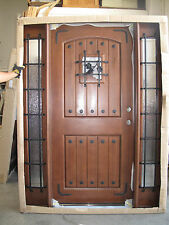 Summer Deal!! Solid Rustic Door with Speak-Easy Pre-hung &Finished TMH7106-5