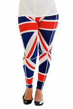 Women Patriot Great Britain UK Flag Legging Tregging Ladies Full Length Nouvelle