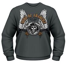 SONS OF ANARCHY WINGED REAPER CREW NECK SWEATER 100% OFFICIAL T-SHIRT M L XL XXL