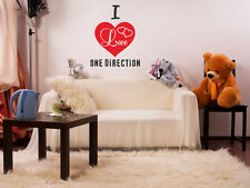 I Love One Direction Wall Art Quote, Wall Sticker, Vinyl Transfer, Decal Modern