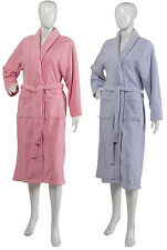 Ladies Luxury Ribbed Striped Slenderella Dressing Gown Soft Fleece House Coat