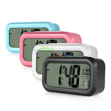 Light-sensitive LCD Digital Snooze Alarm Clock with White LED Backlight