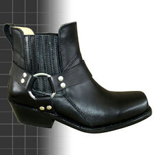 Mens Johnny Reb Style Leather Motorcycle Motorbike Biker Boots New Harness