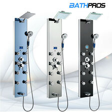 Bathroom Hydrotherapy Massage Tempered Glass Tower Fog Jet Shower Panel Display