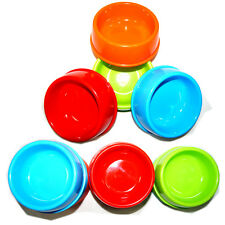 Bright Colorful Heavy Duty Pet Bowl Water Food Dog Cat Plastic BPA Free 4Colors