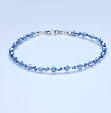 Sapphire Blue Crystal Twisted Bracelet made with Swarovski Elements