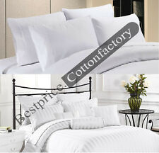 Brand New Hotel White Color Bedding Collection 1200TC 100% Cotton Sheet all Size