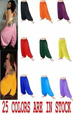 Harem Yoga Genie Trousers Pants Belly Dance Dress Club Costume Select Colors