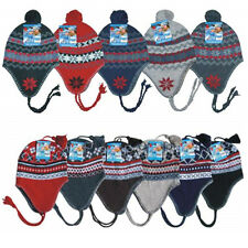 New Winter Hat Knit Beanie Earflaps Insulated Fleece Lined Snow Ski Warm, Colors
