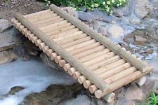 Rustic Decorative Log Garden Bridges For Pond Landscaping Japanese Water Feature