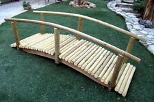 Rustic Decorative Log Garden Bridges With Low Rails Low Arch