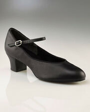 Capezio 459 Footlight leather character dance shoes suede sole ballroom new