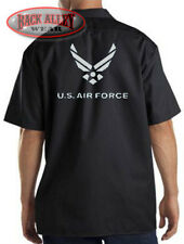 US Air Force Mechanics Work Shirt Biker M-3XL USAF Patriotic America Airmen USA