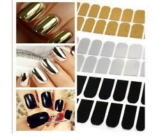 Hot sale 16pcs Smooth Silver/Golden Nail Art Sticker Patch Foils Armour Wraps