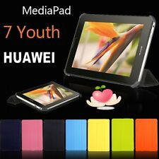 Ultra slim Folio Leather Case Cover  For HuaWei MediaPad 7 Youth S7-701U/w +Film