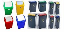 *25&50L* PLASTIC RECYCLING BINS WASTE RUBBISH DUST RECYCLE BIN HOME OFFICE WHAM