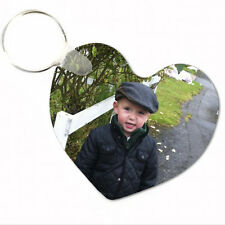 Personalised HEART ACRYLIC KEYRING Great Gift Idea