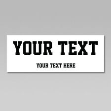 Custom Your Text Iron On Heat Transfer, Straight Team Sports Font, 50+ Colors
