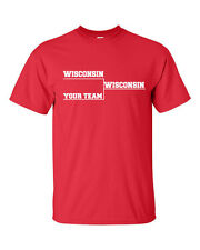 WISCONSIN BASKETBALL Final Tournament Bracket YOUR TEAM Men's Tee Shirt 114