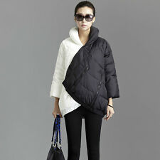 Fashion womens down coats 3/4 Sleeve winter warm Thicken Loose Jacket Parka
