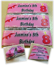 Personalised KitKat Chocolate Wrappers Party Favours - Wrappers or Pre-made! N1