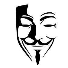 ANONYMOUS mask vinyl decal sticker choose color 4Chan  laptop