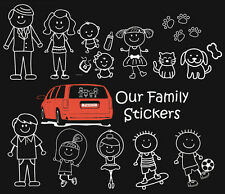 OUR FAMILY Die Cut Car Window Decals Stickers Dad Mom Boy Girl Dog Cat CHOICE