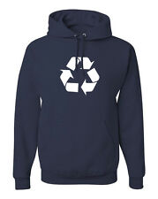 Recycle logo Hoodie Activist Eco Earth Friendly Conservation Sweatshirt FREE S&H