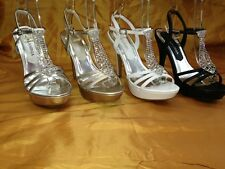 NEW LaSonia 4597 Women Wedding Platform SEXY Rhinestone Heel PARTY PROM WEDDING