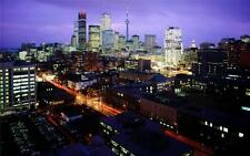 TORONTO SKYLINE AT NIGHT GLOSSY POSTER PICTURE PHOTO canada skyscrapers drake 90