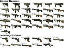 PRIMARY & SECONDARY WEAPONS GLOSSY POSTER PICTURE PHOTO rpg m16 mp5 guns uzi 205
