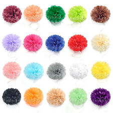 "6""/8""/10""/15"" Tissue Paper Pom Poms Flower Ball Wedding Party Xmas Decorations"
