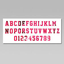 Custom Iron On Heat Transfer, One Letter or Number, Metallic Colors