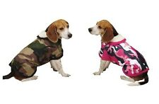 Camo Tough Barn Coats for Dogs - Pink or Green Camouflage Pattern Warm Dog Coat