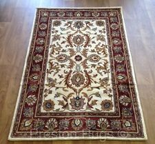 RUG RUNNER TRADITIONAL PERSIAN DESIGN WOOL CREAM RED SMALL MEDIUM LARGE