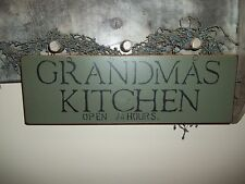Primitive Sign Farmhouse Country Wood Hand-made Grandmas Kitchen open 24 hours