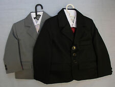 Baby Babies Childrens Grey Black 5 Five Piece Suit Christening Page Boy Formal