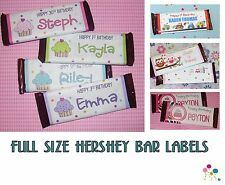 20 Birthday Party CANDY BAR WRAPPER Hershey Favor Label Decoration PERSONALIZED